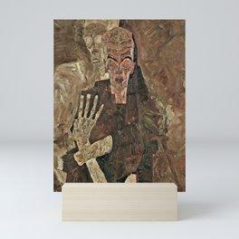Egon Schiele - Self-Seer II (Death and Man) Mini Art Print