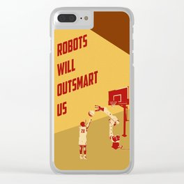 Robots will outsmart us Clear iPhone Case
