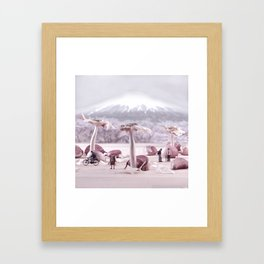 Garlic Sakura Tree Framed Art Print
