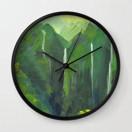 Ko'olau waterfalls Wall Clock