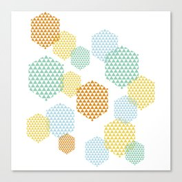 Retro Abstract Hexagon Pattern Canvas Print