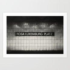 Berlin, Rosa-Luxemburg-Platz Art Print