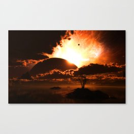 The Beginning of the End Canvas Print