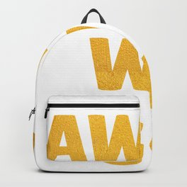 Away We Go in Bold Gold Backpack