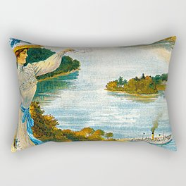 Furness Railway and Lady of the Lake Rectangular Pillow