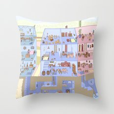 Village Homes Maze Throw Pillow