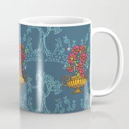 antique amphora with flowers, Pattern Coffee Mug
