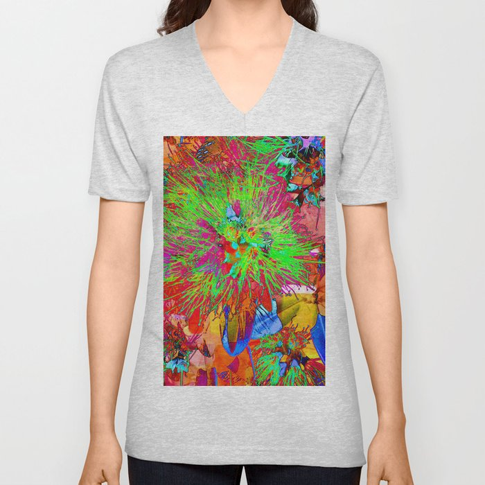 """ Kiwi Lifestyle"" - Pohutukawa NZ Bloom- Pop ART Unisex V-Neck"