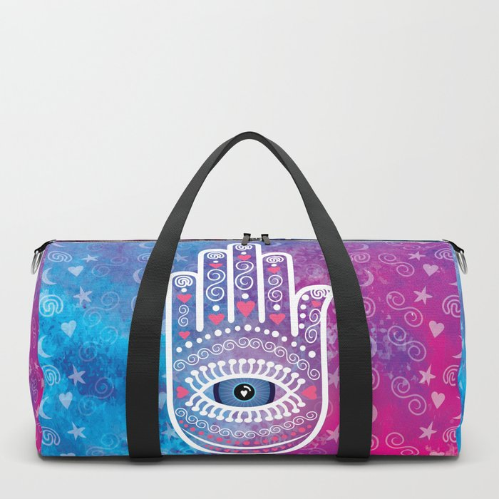 Hamsa Prayer Duffle Bag