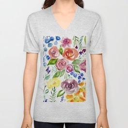 Florabunda Unisex V-Neck