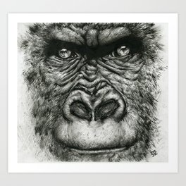 The Gorilla Art Print