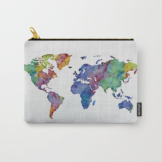 Multicolor World Map 03 Carry-All Pouch