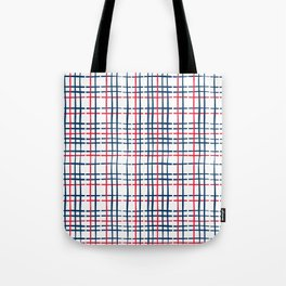 4th of July Skinny Gingham Tote Bag