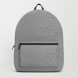 Inhale Peace, Exhale Ease Gray Tones Backpack