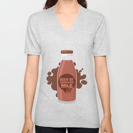 Body By Chocolate Wasted Sweets Milk Gift Unisex V-Neck