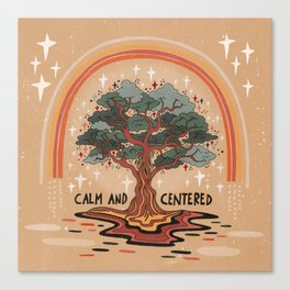 Calm and centered Canvas Print