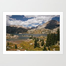 Alpine Lake in the Wyoming Wilderness Art Print