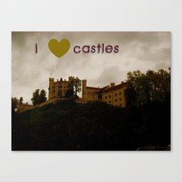 i ❤ castles Canvas Print