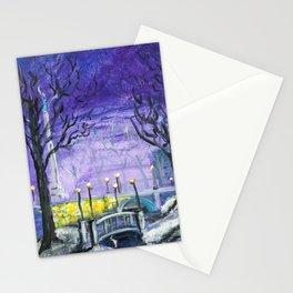 Night Freedom, Riga, Latvia Stationery Cards