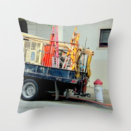 No Parking, Red Zone Throw Pillow