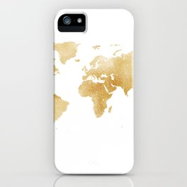 Golden Hour World Map iPhone Case