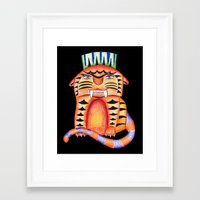 garfield Framed Art Prints featuring Garfield by Adrienne S. Price