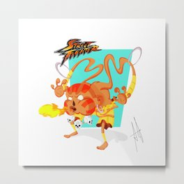 STREET FIGHTER - DHALSIN Metal Print