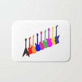 Modern Guitar Silhouettes Bath Mat