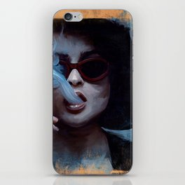 Marla Singer Smokes A Cigarette Behind Sunglasses - Fight iPhone Skin
