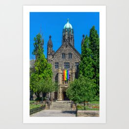 Church With LGBT Pride Flag Art Print