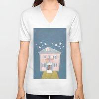 starry night V-neck T-shirts featuring starry night by ARTION