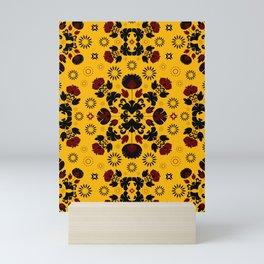 Fiesta Folk Yellow #society6 #folk Mini Art Print