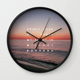 Spirit Lead Me Wall Clock