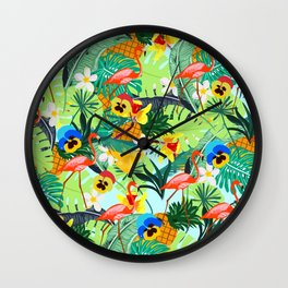 Tropical III Wall Clock