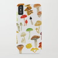 mushrooms iPhone & iPod Cases featuring Mushrooms by Lara Paulussen