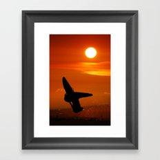 Windsurfing sunset Framed Art Print