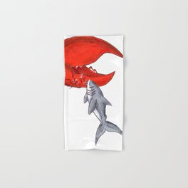 Great White Lobstah Lovah Hand & Bath Towel