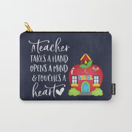 A teacher takes a hand Carry-All Pouch
