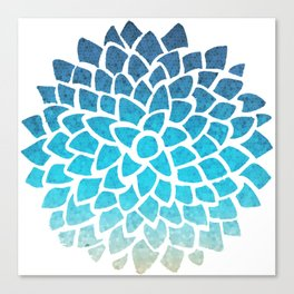 Sea Glass Dahlia Canvas Print