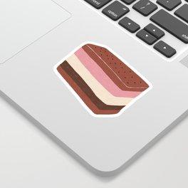 Neapolitan Ice Cream Sandwich Sticker