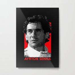 Formula One - Ayrton Senna Metal Print