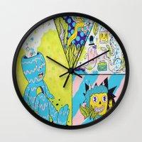 health Wall Clocks featuring Mental Health by Frenemy