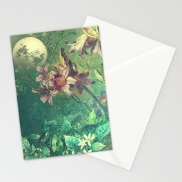 Daybreak under the fairy moon Stationery Cards