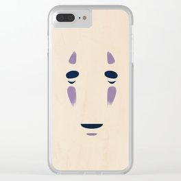 Spirited Away - No Face Minimalist, Miyazaki, Studio Ghibli Clear iPhone Case