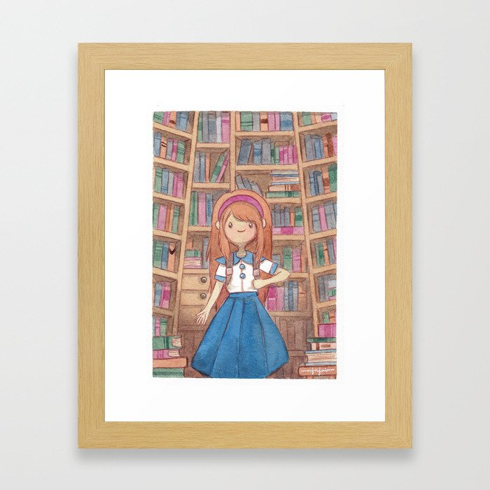 The Smell of Old Books Framed Art Print