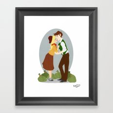 Crime Duo Framed Art Print