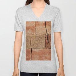 Ancient Sandstone Wall Unisex V-Neck