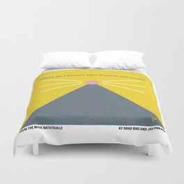 No163 My Ratatouille minimal movie poster Duvet Cover