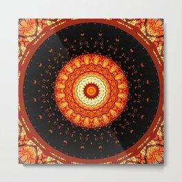 Mandala happy helloween Metal Print