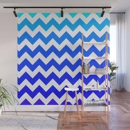 Aqua to Violet Chevrons  Wall Mural